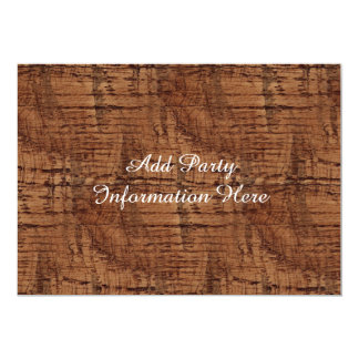 Rugged Chestnut Oak Wood Grain Look Card