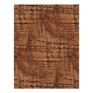 Rugged Chestnut Wood Grain Look 21.5 Cm X 28 Cm Flyer