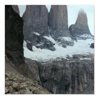 Rugged Chile Landscape 13 Cm X 13 Cm Square Invitation Card