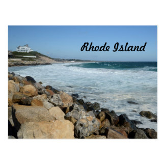 rugged coast in Rhode Island Postcard