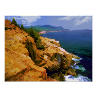 Rugged Coast of Maine at Acadia N.P. -Realism Poster