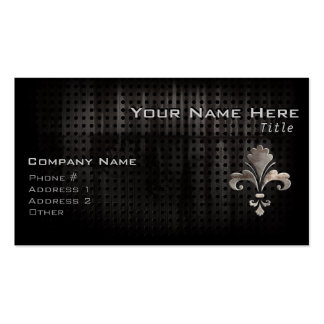 Rugged Fleur de lis Double-Sided Standard Business Cards (Pack Of 100)