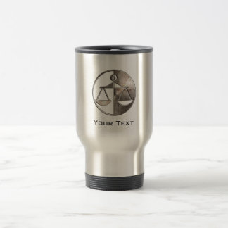 Rugged Justice Scales Stainless Steel Travel Mug