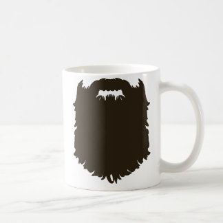 Rugged manly beard basic white mug