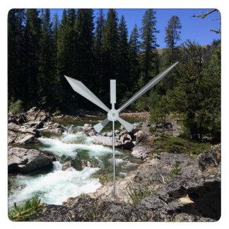 Rugged Mountain River Photo Wall Clock