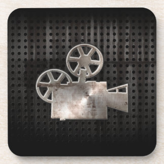 Rugged Movie Camera Drink Coasters