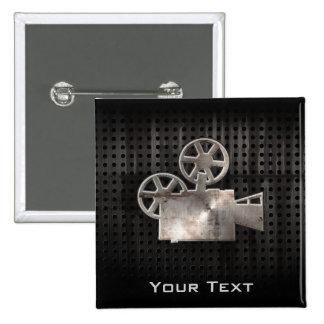 Rugged Movie Camera Pinback Button