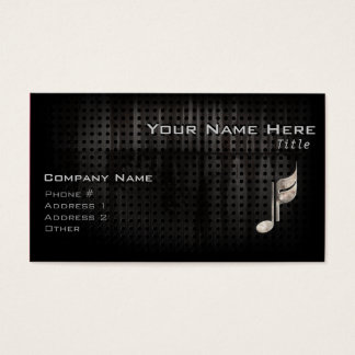 Rugged Music Note Business Card