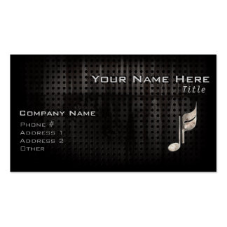 Rugged Music Note Business Cards