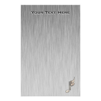 Rugged Music Note Personalized Stationery