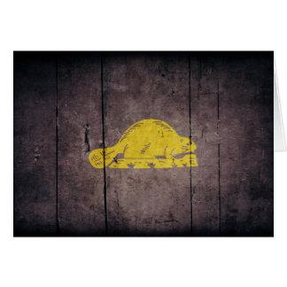 Rugged Oregon Flag (back) Card