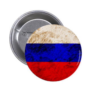 Rugged Russian Flag Pinback Button