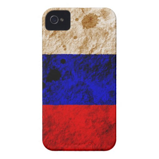 Rugged Russian Flag Blackberry Bold Case