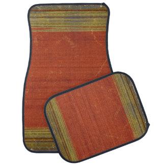 Rugged Rusty Red Green Stripes Car Floor Mats Floor Mat
