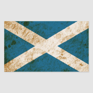 Rugged Scottish Flag Rectangular Sticker