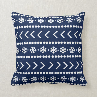 Rugged Snow pillow - navy blue