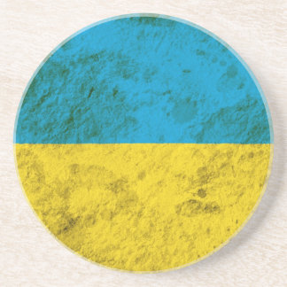 Rugged Ukrainian Flag Coaster