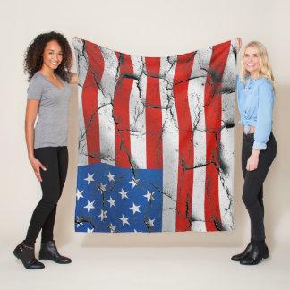 Rugged United States Flag Blanket