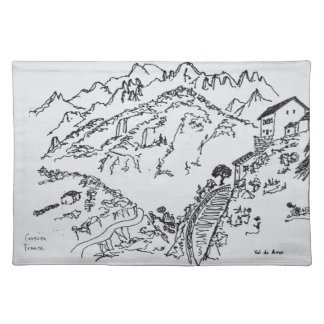 Rugged Val d'Asco | Corsica, France Placemat