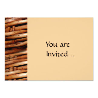 "Rugged Wicker Basket Look 5"" X 7"" Invitation Card"