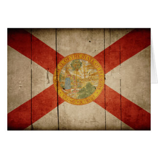 Rugged Wood Florida Flag Note Card
