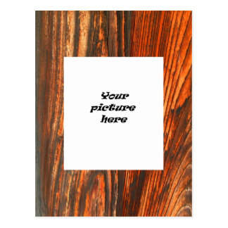 Rugged Wood Look Postcard