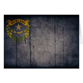 Rugged Wood Nevada Flag Note Card