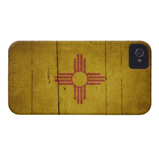 Rugged Wood New Mexico Flag iPhone 4 Covers