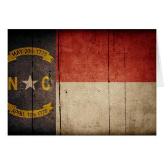 Rugged Wood North Carolina Flag Note Card