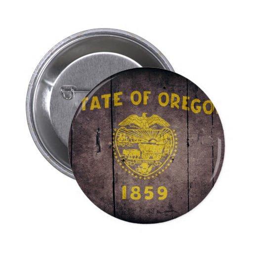 Rugged Wood Oregon Flag Pins