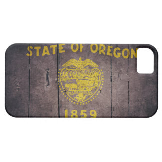 Rugged Wood Oregon Flag Barely There iPhone 5 Case