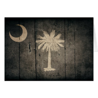 Rugged Wood South Carolina Flag Note Card