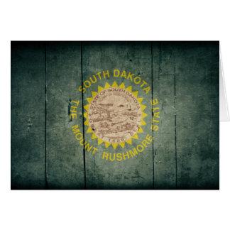 Rugged Wood South Dakota Flag Note Card