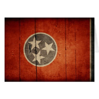 Rugged Wood Tennessee Flag Note Card