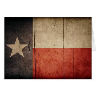 Rugged Wood Texas Flag Greeting Cards
