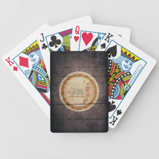 Rugged Wood Virginia Flag Bicycle Playing Cards