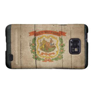 Rugged Wood West Virginia Flag Samsung Galaxy S2 Cover