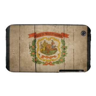 Rugged Wood West Virginia Flag iPhone 3 Covers
