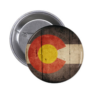 Rugged Wooden Colorado Flag Buttons