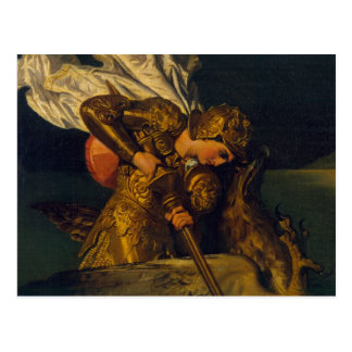 Ruggiero Rescuing Angelica Postcard