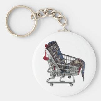 RugsShoppingCart090410 Basic Round Button Key Ring