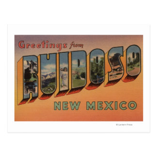 Ruidoso, New Mexico - Large Letter Scenes Postcard