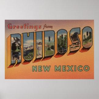 Ruidoso, New Mexico - Large Letter Scenes Poster