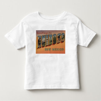 Ruidoso, New Mexico - Large Letter Scenes Toddler T-Shirt