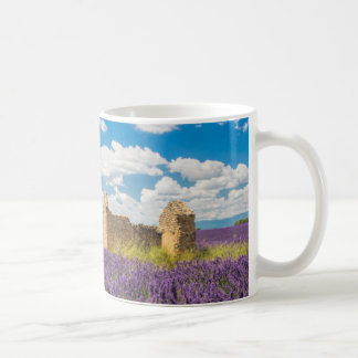 Ruin in Lavender Field, France Coffee Mug