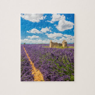 Ruin in Lavender Field, France Jigsaw Puzzle