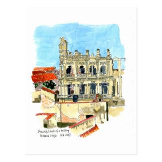 Ruin of Palacio Vienna Hotel, Havana, Cuba Postcard