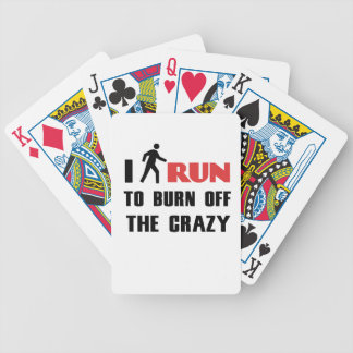 Ruining and health, to burn off the crazy bicycle playing cards