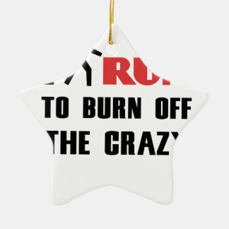 Ruining and health, to burn off the crazy ceramic star decoration