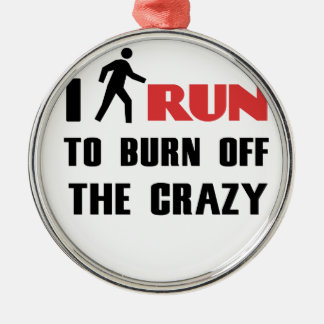 Ruining and health, to burn off the crazy Silver-Colored round decoration
